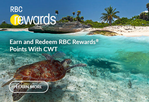 Earn and Redeem RBC Rewards with CWT
